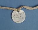 dog tag, Corporal Francis Robert Dynes, 12/336, 1N...