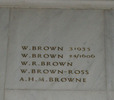 Auckland War Memorial Museum, World War 1 Hall of Memories, name panel beginning W. Brown 31935 - No known copyright restrictions