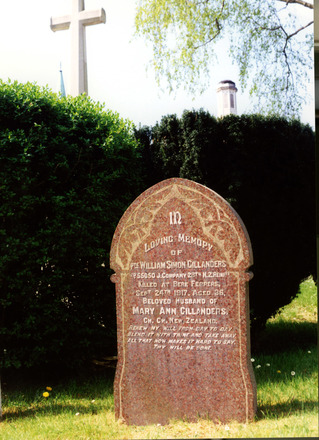 Headstone, Plymouth (Efford) Cemetery (photograph Mrs Kyle 2000) - No known copyright restrictions