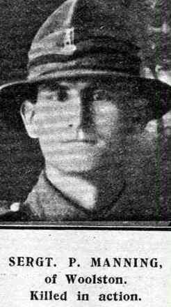 Portrait of Patrick Manning, Online Cenotaph, Auckland War Memorial Museum