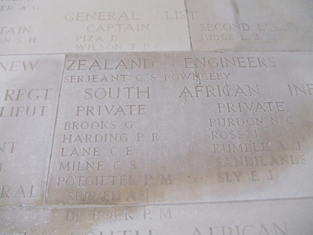 Image of memorial at Arras provided by Gabrielle Fortune. - Image has All Rights Reserved