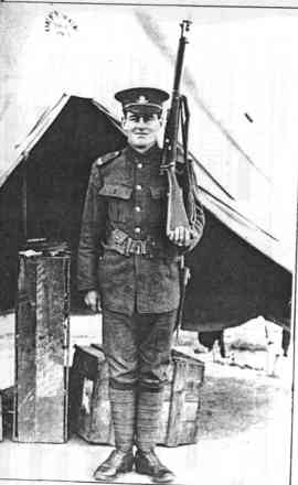 Charles Moore Fulljames taken at Trentham Military Camp, Wellington 1915 - No known copyright restrictions