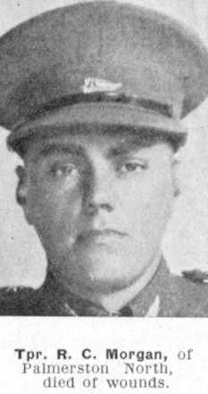 Robert Morgan in uniform, cap - This image may be subject to copyright