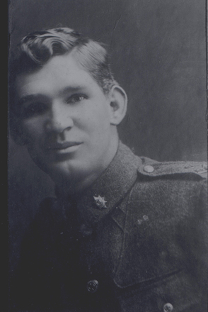 Portrait, WW1, Ernest Richard Johnston, in uniform 1917 (photo provided by family 2008) - No known copyright restrictions