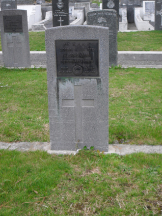Grave of H Spackman (30656), Featherston Cemetery, (image supplied by Sam Hodder) - No known copyright restrictions