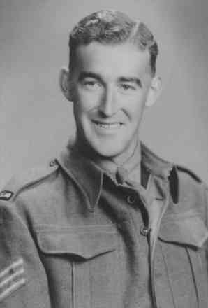 Portrait, Sergeant Neil Caradus, Wellington in 1943 when he was home from the Middle East on furlough - This image may be subject to copyright