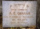 Detail, plaque to Albert Edward Graham (24/769), family grave memorial, Shortland Public Cemetery, Thames (photo P. Lascelles 1999) - No known copyright restrictions