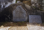 Headstone plaques, family grave memorial, Shortland Public Cemetery, Thames (photo P. Lascelles 1999) - No known copyright restrictions
