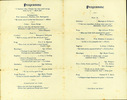 Programme of Final Concert HMNZT 24 Maunganui 17 July 1915 inside pages Belonged to R.J.E. Daniel - No known copyright restrictions
