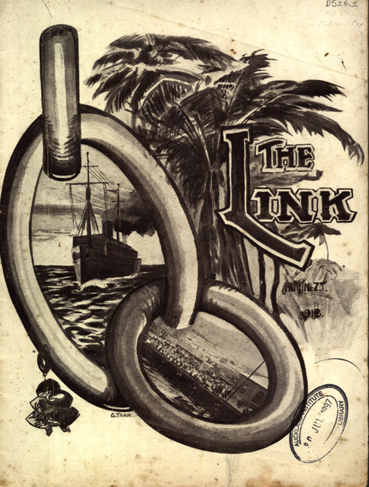 "Cover of ""The Link"" magazine edited by James Guiney from Auckland War Memorial Museum"