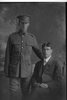 3/4 portrait of the Privates Silich, Brothers Anthony, Reg No 8/3401 and Percy Lorenzo, Reg No 8/3402, both of the 8th Reinforcements, Otago Infantry Battalion, - D Company. (Photographer: Herman Schmidt, 1915). Sir George Grey Special Collections, Auckland Libraries, 31-S1036. No known copyright.