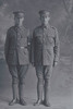 Full length portrait of the Privates Silich, Brothers Anthony, Reg No 8/3401 and Percy Lorenzo, Reg No 8/3402, both of the 8th Reinforcements, Otago Infantry Battalion, - D Company. (Photographer: Herman Schmidt, 1915). Sir George Grey Special Collections, Auckland Libraries, 31-S1039. No known copyright.