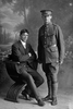 Full length portrait of the Privates Silich, Brothers Anthony, Reg No 8/3401 and Percy Lorenzo, Reg No 8/3402, both of the 8th Reinforcements, Otago Infantry Battalion, - D Company. (Photographer: Herman Schmidt, 1915). Sir George Grey Special Collections, Auckland Libraries, 31-S1040. No known copyright.