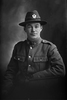 1/2 portrait of Lance Corporal William Arthur Sawyer, Reg No 17104, of the Specialist Company (Signal Section). (Photographer: Herman Schmidt, 1916). Sir George Grey Special Collections, Auckland Libraries, 31-S2143. No known copyright.