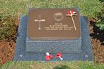 Gravestone at UN Cemetery Pusan, Korea for 33682 Barton Wicksteed. No Known Copyright.