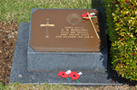 Gravestone at UN Cemetery Pusan, Korea for 208875 Douglas Rodgers. No Known Copyright.
