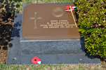 Gravestone at UN Cemetery Pusan, Korea for 206353 Ronald MacDonald. No Known Copyright.
