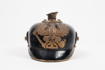 Prussian helmet, WW1 Taken by Sgt. Geo Hulme after...