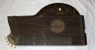 zither, plucked sting instrument, trapezoid box sh...