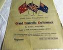 WW1 ephemera; Programme