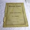 Sheet Music, 'Haere Tonu', by R A Horne
