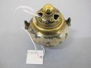 incense burner, miniature, on three feet, lidded, ...