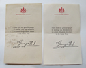 Kings Message and envelope, WW1 Letter from King G...