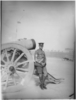 Portrait of [Arthur] Howard Abel in uniform leaning on canon (1914-1918). Image has no known provenance. Image has no known copyright restrictions.