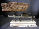 set of Plunket scales, cast iron and marble base w...