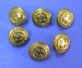 Set of six small NZ Forces buttons, belonged to 81...