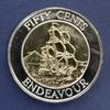 1994 Endeavour fifty cent piece (NZ's first bi-met...