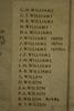 Auckland War Memorial Museum, World War 1 Hall of Memories Panel Williams, G.H. - Wilson, W.T. (photo J Halpin 2010)