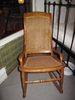 rocking chair; cane seat and back
