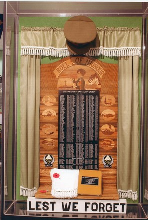21st Battalion Roll of Honour, Auckland War Memorial Museum. Image provided by John Halpin 2017, CC BY John Halpin 2017.
