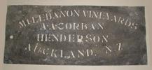 stencil, locality: Henderson.  Zinc stencil - Mt ...