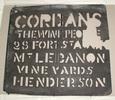 #40, stencil, locality: Henderson.  Zinc stencil....