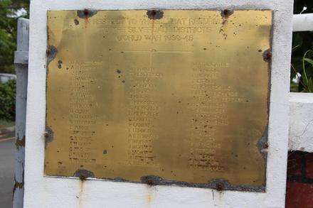 Silverdale War Memorial 1939-1945, 2157 East Coast Road, Silverdale 0993. Image provided by John Halpin 2012, CC BY John Halpin 2012
