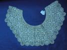 collar, cream silk Maltese lace, small florets and...