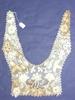 collar, lace, coarse thread, crochet; floral motif...