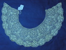 collar, cream silk Maltese bobbin lace, edged with...