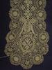 cream Maltese lace scarf, silk, width 7 [col.reg]