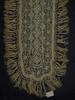 Maltese lace scarf, deep fringe round edges [col...