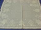 cloth, table. white work. Very fine white linen te...