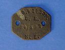 ID tag, 24/327 Rifleman Geoffrey Crawcourt Wilson,...