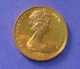 1967 New Zealand 2 cent coin design: Two golden ko...