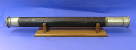 Telescope with wooden stand, circa 1900 Used by th...