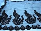 veil or flounce, black cotton machine made net wit...